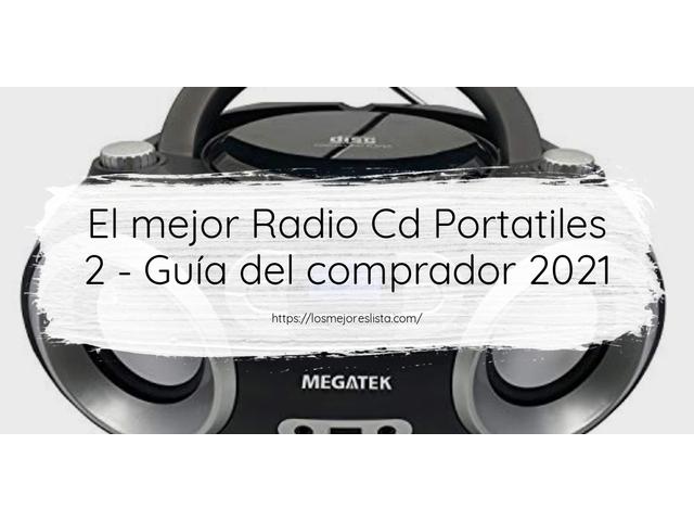 Los Mejores Radio Cd Portatiles 2 – Guía de compra, Opiniones y Comparativa del 2021 (España)