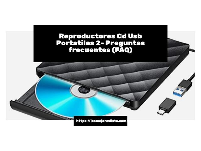 Los Mejores Reproductores Cd Usb Portatiles 2 – Guía de compra, Opiniones y Comparativa del 2021 (España)