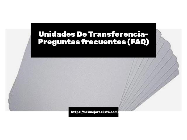 Los Mejores Unidades De Transferencia – Guía de compra, Opiniones y Comparativa del 2021 (España)